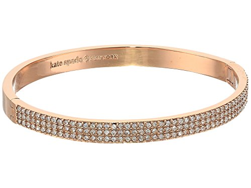Kate Spade New York Women's Heavy Metals Pave Row Bangle Clear/Rose Gold One Size
