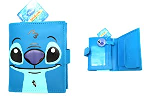 Blue Disney Stitch Magnet Close Wallet - Lilo and Stitch Wallet
