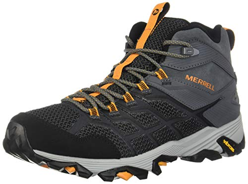 Merrell Men's Moab FST 2 MID Waterproof Hiking Shoe, Castle/Flame, 10.5 M US