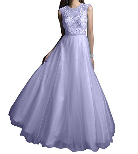 Abendkleider A Rock Spitze mia Linie Promkleider Partylkleider Braut Abschlussballkleider Festlich Langes Lilac Prinzess La vxSwqXp7