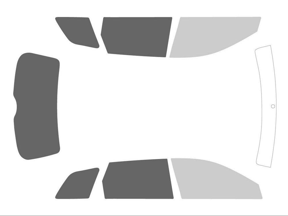 Variance Auto va_k-3-55 781 2085-1-45 Film Teinté pour Auto Kit Complet, Noir 70/20