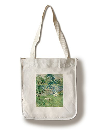 Classic Cotton Boat Tote - Girl in a Boat with Geese - Masterpiece Classic - Artist: Berthe Morisot c. 1889 (100% Cotton Tote Bag - Reusable)