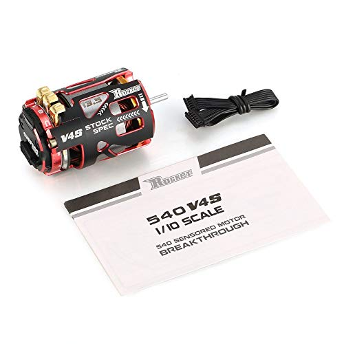 KNOSSOS V4S 540 13.5T Sensored Brushless Motor for 1 10 Drift RC Car(Red & nero)
