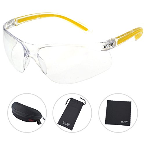 DUCO Safety Glasses with Clear Anti-Fog and Anti-Scratch Wrap-Around Lenses and No-Slip Grips Windproof Glasses UV400 - Oakley.co.uk