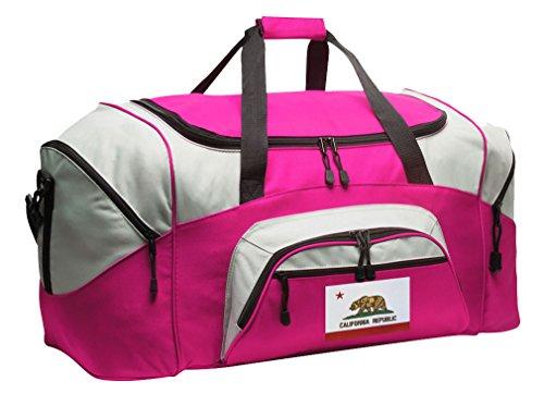 LARGE California Duffel Bag Ladies California Flag Suitcase Duffle - Gym Bag GIF