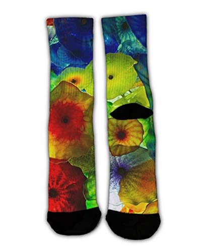 KYWYN Women's Colorful Ocean Jellyfish Winter Super Soft Warm Cozy Slipper Socks,Dress Socks Gift Halloween/X-mas/Holiday/New Year -