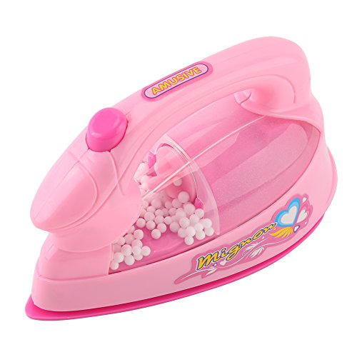 Child Iron Play - Asixx Kids Electric Toy, Mini Electric Iron Toy Mini Furniture Toys Plastic Pink Kids Children Baby Girl Pretend Play Home Appliances Toy