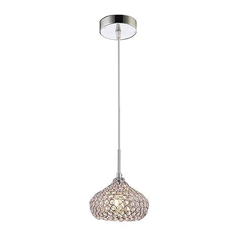 Delicieux DINGGU Chrome Finish 1 Light Single Crystal Pendant Lighting For Kitchen  Island     Amazon.com