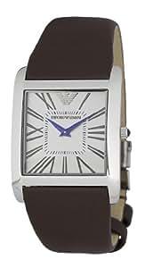 Emporio Armani AR2008 - Reloj para hombres, correa de cuero color marrón