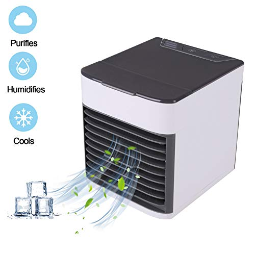 Personal Air Conditioner - [2019 Upgrade ] 3 in 1 Portable Mini Space Air Cooler,Humidifier,Purifier,Cooling Evaporative Desk Fan - Small Cooling Swamp Device for Office Bedroom Home by Balai