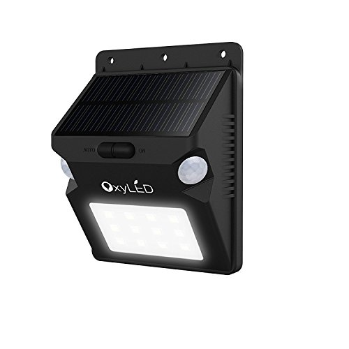 OxyLED SL07 20 LEDs Solar Outdoor Wall Light Security Lighting, Wireless Waterproof 210 Degree Motion Sensor Patio Wall Light Fixture/ Landscape Path Light for Patio/ Deck/ Yard/ - Plans Bench Free Garden