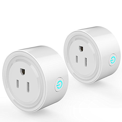 Smart Plug, 2-Pack VIFLYKOO Wireless Outlet WiFi Plug US Socket, No Hub Required, Wi-Fi Mini Smart Plug Socket Outlet Compatible with Alexa, Remote Control your Devices from Anywhere