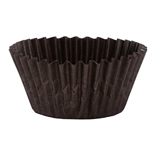 Fluted Loaf - Hoffmaster 610514 Fluted Bake Cup, 1-7/8 Base x 1-5/16 Height, Brown (Pack of 10000)