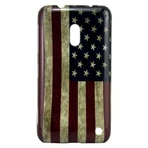 Harryshell US Flag Hard Plastic Case for Nokia Lumia 620 (Usa Flag Hard Case)