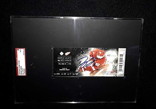 Dylan Larkin Detroit Red Wings Signed First Nhl Goal Ticket Sgc Slabbed Au826090 - Hockey Slabbed Autographed Rookie ()