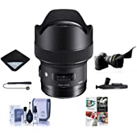 Sigma 14mm f/1.8 DG HSM ART Lens for Canon EOS DSLR Cameras - Bundle With Lens Wrap, Flex Lens Shade, Cleaning Kit, Capleash II, Lenspen Cleaner, Software Package