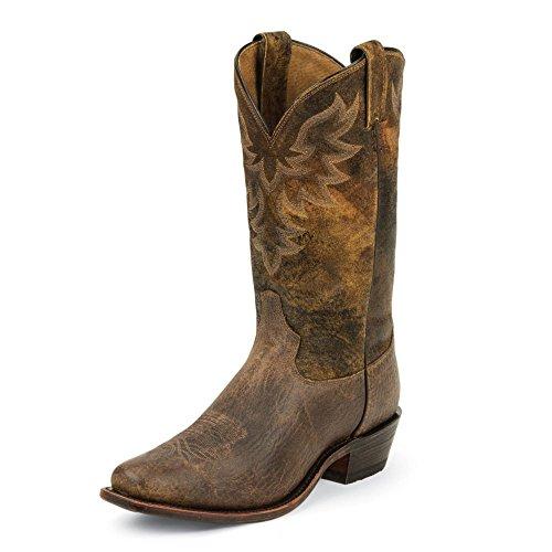 Tony Lama Mens Prine Tan 12 Hauteur (7977)   Mâchoires De Bronzage   Bottes Western De Pullon   Botte En Cuir Marron Cowboy   Fabriqué Aux États-unis