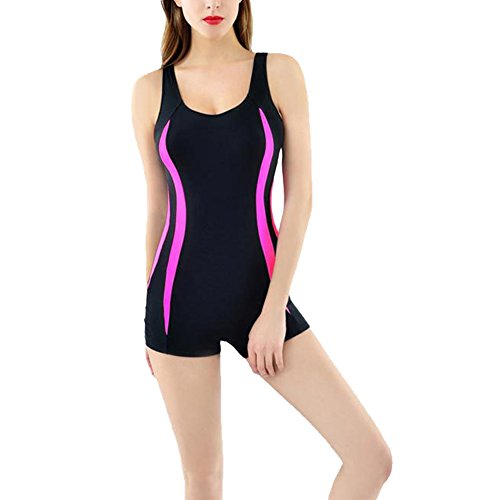 Laixing Buena Calidad Women's Boyleg Swimwear Swimsuit Ladies Swimming Costume Bathing Suit YD16-25 Multi