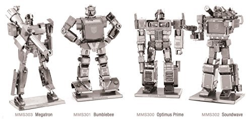 (Fascinations Metal Earth Transformers 3D Metal Model Kits Set of 4 - Optimus Prime, Bumblebee, Soundwave and Megatron)