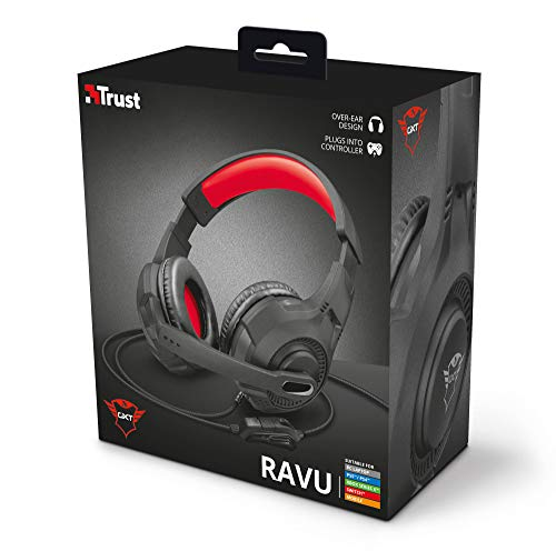 Headset Gamer PS4 / PS5 / XBOX series / SWITCH / PC / LAPTOP GXT 307 Ravu 40mm - Preto e Vermelho - Trust