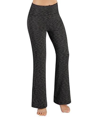 ODODOS Power Flex Boot-Cut Yoga Pants Tummy Control Workout Non See-Through Bootleg Yoga Pants,SpaceDyeCharcoal,XX-Large -