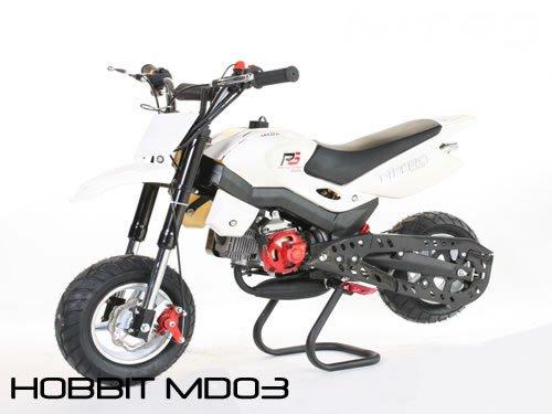 Dirtbike 49cc Hobbit Sport Pocketbike Crossbike Kinderbike Weiß