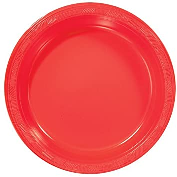 Amazon.com Hanna K. Signature Collection Plastic Plate 50 Plates 10-Inch Red Kitchen \u0026 Dining  sc 1 st  Amazon.com & Amazon.com: Hanna K. Signature Collection Plastic Plate 50 Plates ...