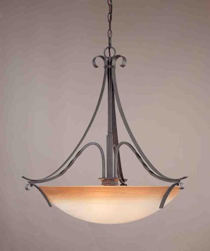 Volume Lighting V2653-53 Altamonte 3 Light Frontier Iron Bowl-Shaped Pendant ()