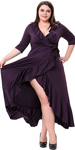 Sapphyra Women's Half Sleeve Ruched Empire Waist Ball Gown Wedding Maxi Dress