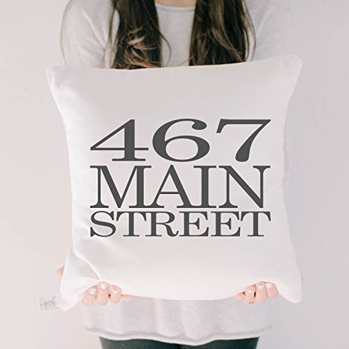 Personalized Throw Pillow - Address, wedding, engagement gift, newlywed, wedding shower, throw, cushion cover