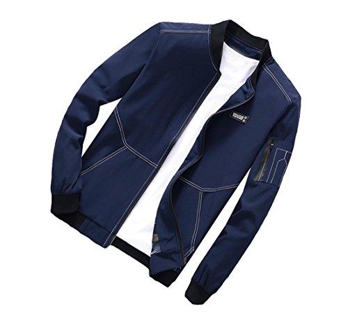Più Giacca Uomini Scuro Blu Casuale Comfort fit Cappotto Il Rilassato Aicessess Outwear Degli aSwXCnXq