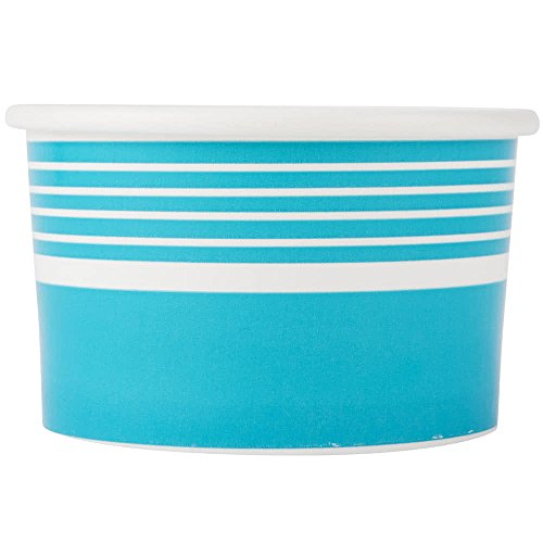 6 oz. Paper Frozen Yogurt Cup - 1000/Case - Pink Blue Green - Save Money Buy Bulk (Blue) by Choice
