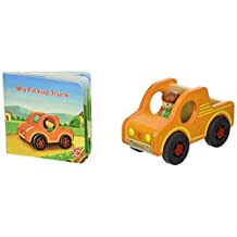 hape My Pickup Truck Wooden Figure Set with Book