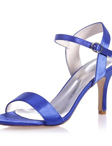 ShangYi Womens Shoes Satin Stiletto Heel Open Toe Sandals Wedding/Party & Evening Shoes More Colors available Blue