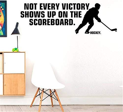 Vinyl Wall Sticker Mural Bible Letter Quotes Not Every Victory Shows Up On The Scoreboard. Hockey.