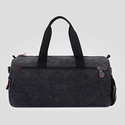 Cross Canvas Oval Men Chengxiaoxuan Big Travel Black Section Handbag Storage Shoulder Bag 6wTfSzAq