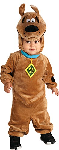 Baby Boy's Scooby Doo Outfit Funny Theme Infant Halloween Fancy Costume, 12-18M Brown]()