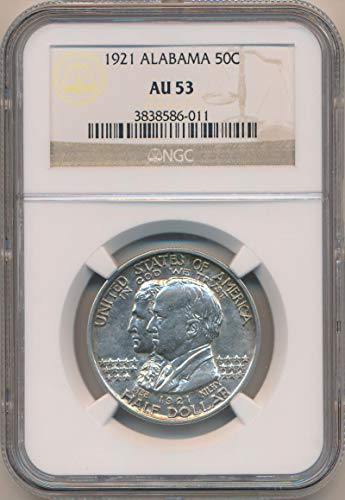 1921 P Alabama Half Dollar AU53 NGC