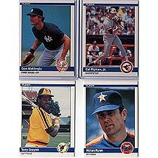 1984 Fleer Baseball Complete Mint Hand Collated 660 Card Set It Was Never Issued In Factory Form Includes The Rookie Cards Of Don Mattingly Darry