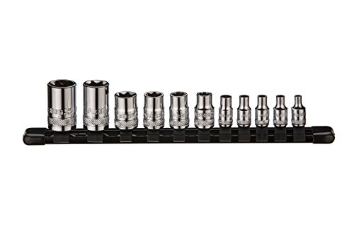 (ARES 70261 | External Torx Socket Set | 11-Piece Set Includes 1/4-inch, 3/8-inch and 1/2-inch Drive E4 to E20 Sockets | Set Comes Complete with Convenient Socket Storage Rail)