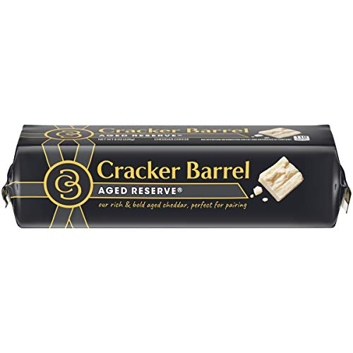 (Cracker Barrel Aged Reserve Cheddar Cheese Block, 8 oz Wrapper)
