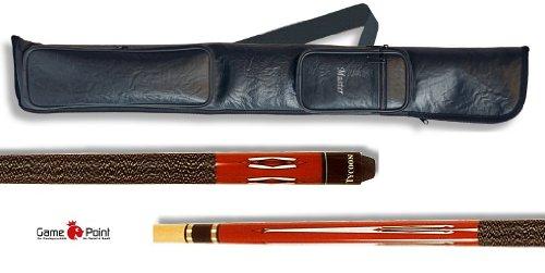 Top-Angebot!!! Billardqueue Tycoon, TC-1 rot, Länge ca. 147 cm, 2-tlg. + Queue-Tasche