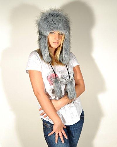 Futrzane Aviator Faux Fur Hat Cossack Russian Style Trapper Winter Women Hat Ushanka (M, Beige)