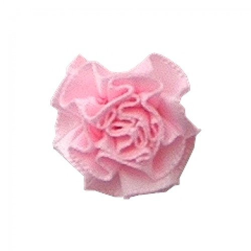 Berisford Ribbon Ruched Rosettes 117 Light Pink - per pack of 6