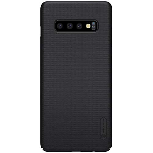 Galaxy S10 Case, Nillkin Frosted Shield Hard Slim Case Back Cover [Support Wirelesss Charge] for Samsung Galaxy S10 - Black