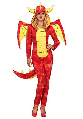 Dazzling Dragon Womens Costume Small Red