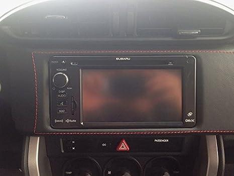 RedlineGoods dash pad para GT86 2012-18 Cuero NEGRO Costura ROJA: Amazon.es: Coche y moto