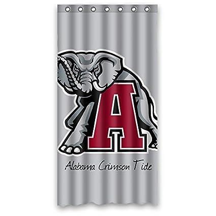 Custom NCAA Alabama Crimson Tide Design Waterproof Polyester Fabric Bathroom Shower Curtain 36 Inch X 72 Inchabout 90cm 183cm Amazoncouk Kitchen
