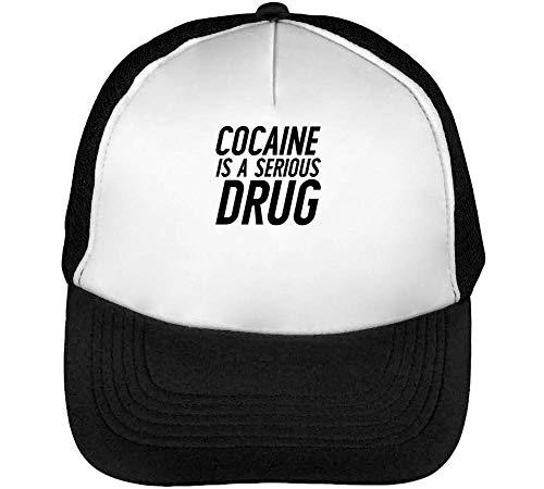 Drug Hombre Negro A Beisbol Serious Snapback Cocaine Gorras Blanco Is 8qX6wnBat