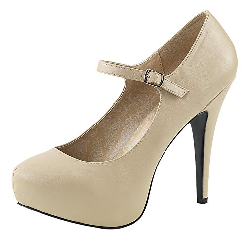 Pleaser Pumps Night Chloe Plateau 02 and Day rRvqZr